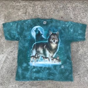 Other - Howling Wolves/Moon Tie Dye Men's T-Shirt